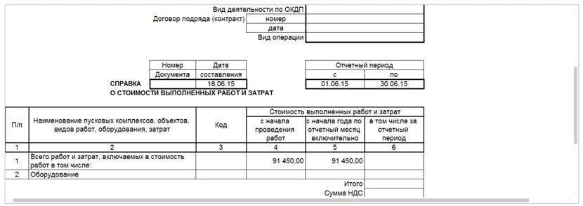 Справка о стоимости выполненных работ КС-3 в 1С Смета 3