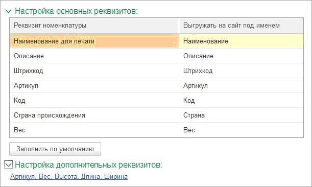Интернет-магазин в 1С УНФ
