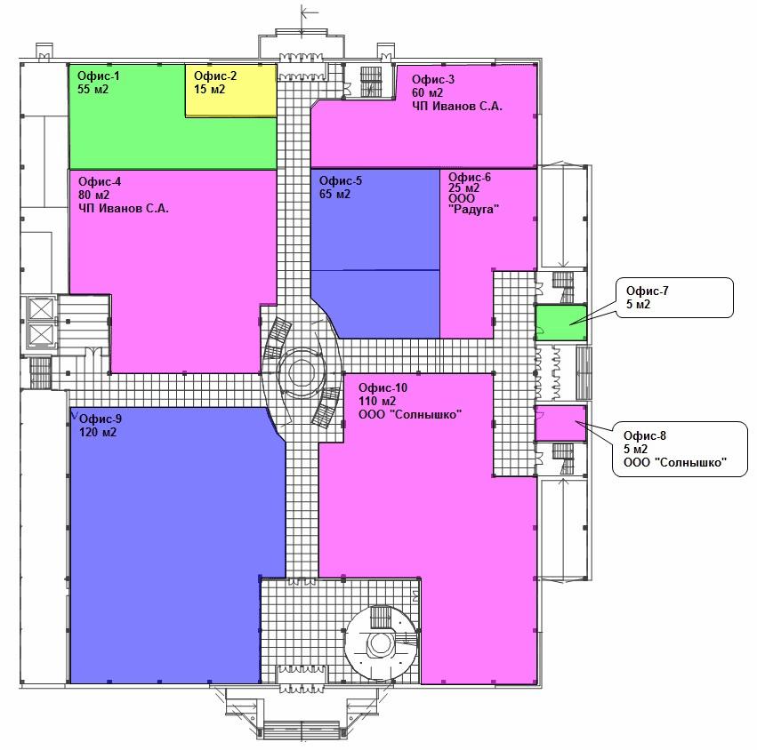 Графическая отчетность в 1С Аренда и управление недвижимостью