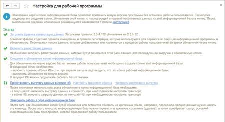 Обновление информационной базы в 1С УТ